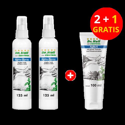 Agilis-Spray, 2 x 125 ml + Agilis 6-Creme 1 x 100 ml gratis