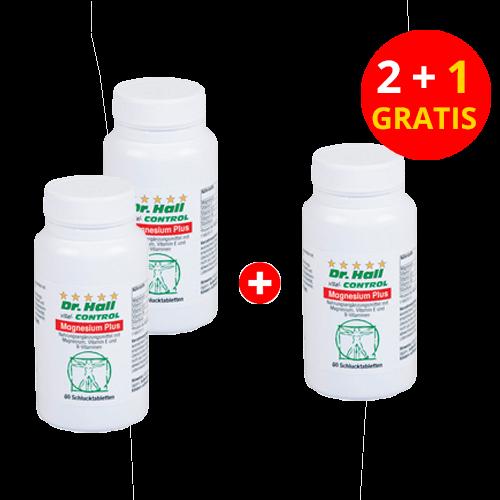 Magnesium Plus, 2 x 60 Kapseln + 1 x 60 Kapseln gratis