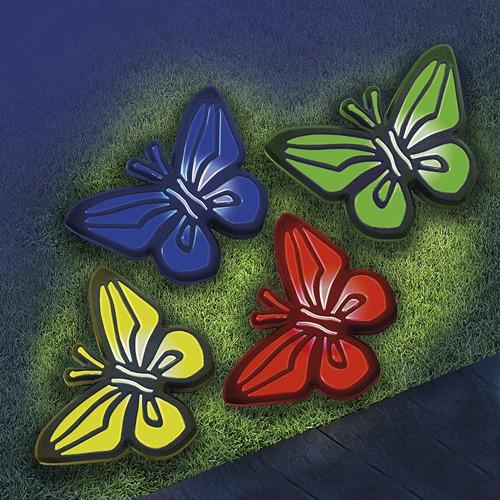 270381 Solar-Schmetterlingsleuchten, 4er Set