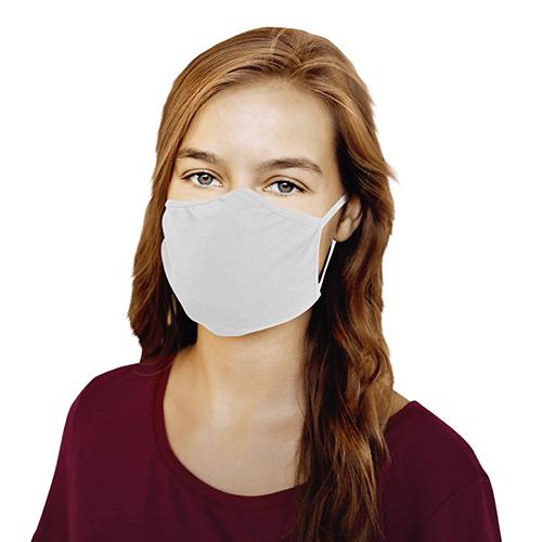 Hygiene-Maske, 2er Set weiß