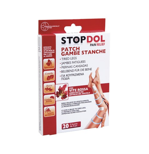 STOPDOL Patch für die Beine, 20 Stück - Kosmetikpflaster