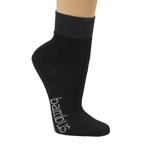 Bequem-Socken mit Bambus, 3er, schwarz