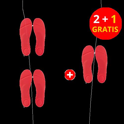 GelRoyal 3-Zonen-Aktivsohle, Damen, 2 Paar + 1 Paar gratis
