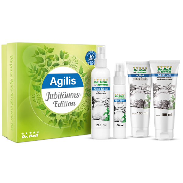 Agilis Jubiläums-Box mit Agilis 6, Agilis-Gel, Agilis-Spray