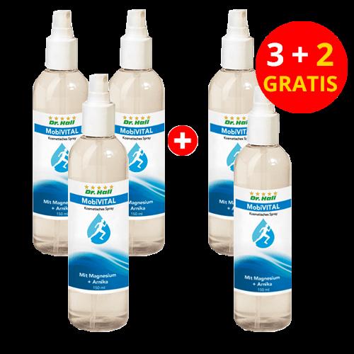 MobiVITAL-Spray, 3 x 150 ml + 2 x 150 ml gratis