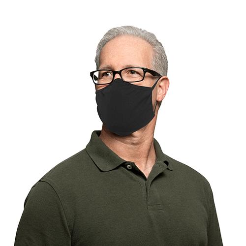 Hygiene-Maske, 2er Set schwarz