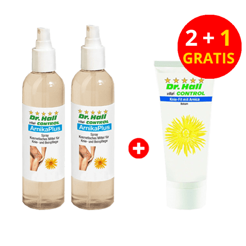 ArnikaPlus-Spray, 2 x 250 ml + Knie-Fit mit Arnica, 1 x 100 ml gratis