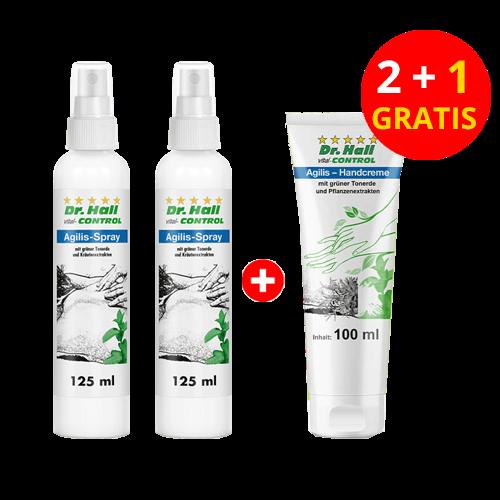 Agilis-Spray, 2 x 125 ml + Agilis-Handcreme, 1 x 100 ml