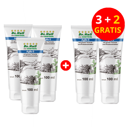 Agilis 6, 3 x 100 ml + 2 x 100 ml gratis