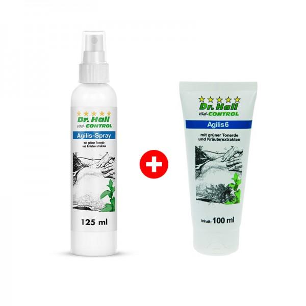 Agilis-Spray, 1 x 125 ml + Agilis 6-Creme, 1 x 100 ml GRATIS