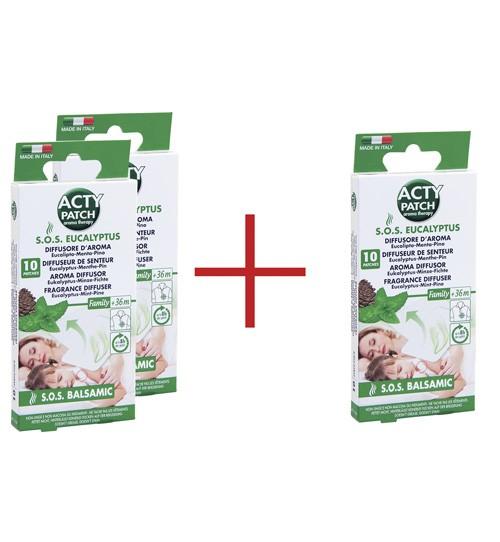 Eukalyptus Aroma-Patch - 10 Pflaster - erleichtert die Atmung - Sparpack