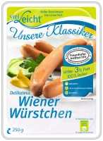 Delikatess Wiener Würstchen, 250 g