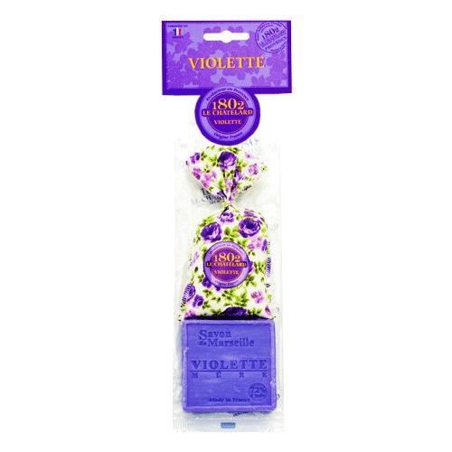 Seife Violette 100 g + Duftsäckchen Violette